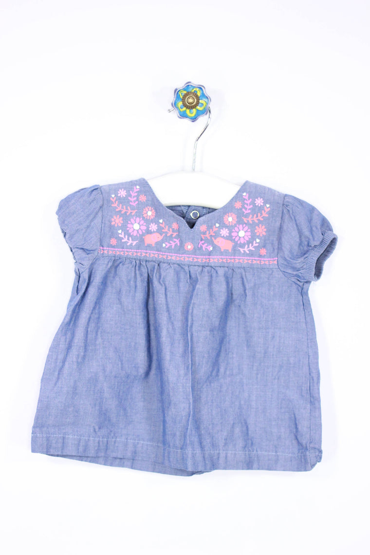 Just One You Size 6M Short Sleeve Top