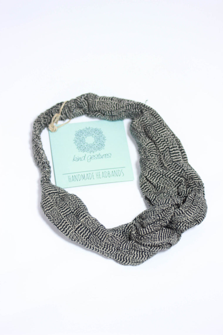Kind Gestures Black Handmade Headband