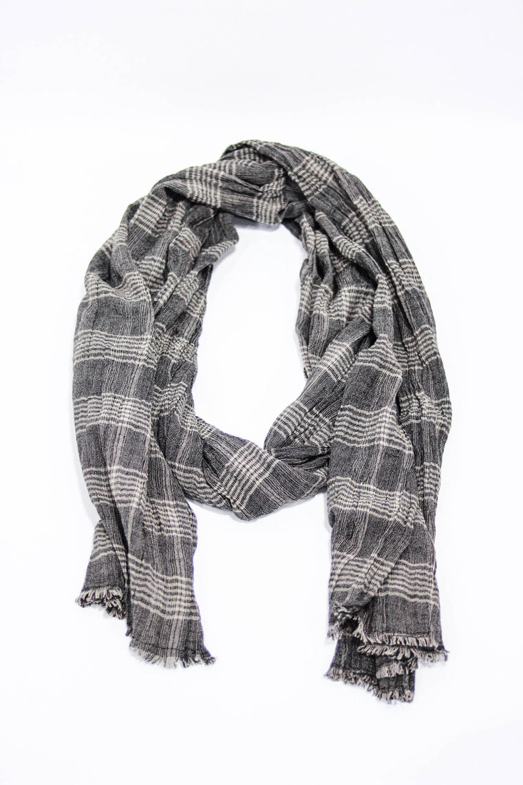 Kind Gestures Brown/Black Scarf