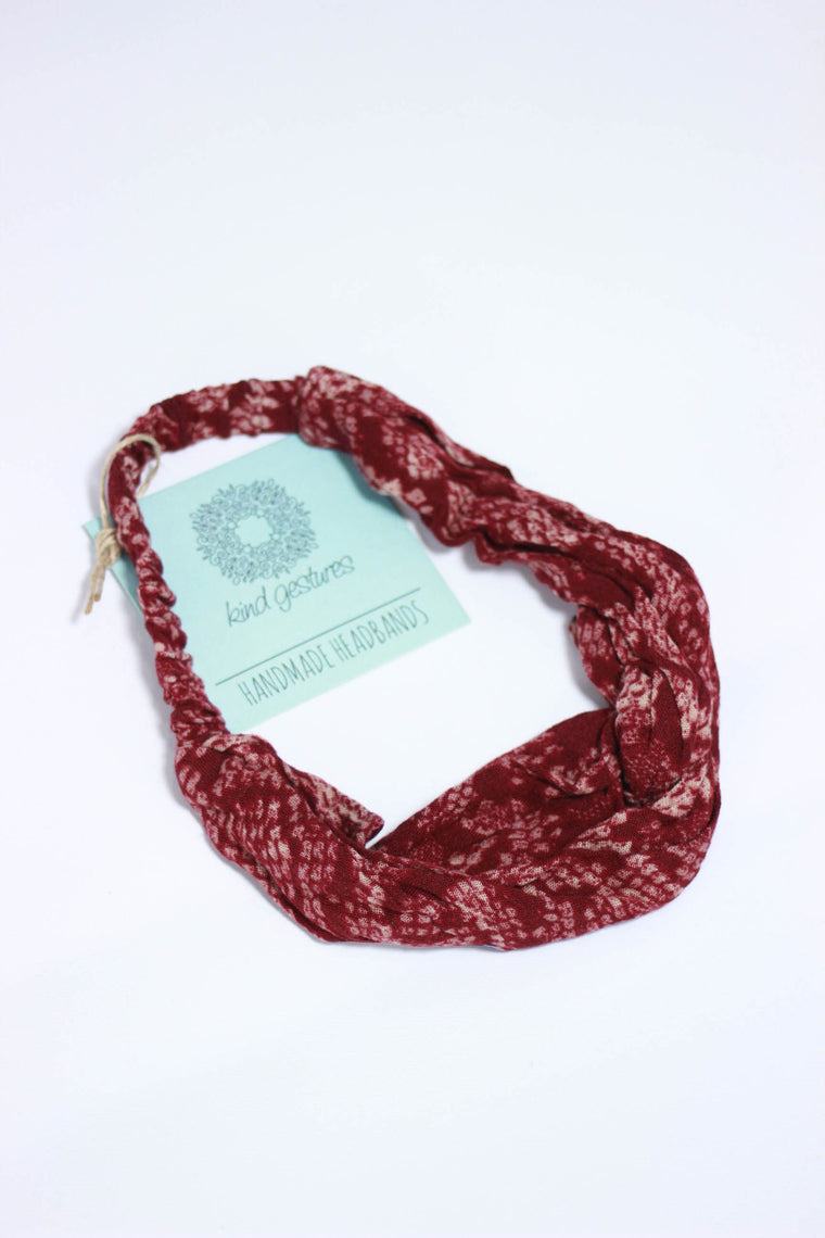 Kind Gestures Red Handmade Headbands