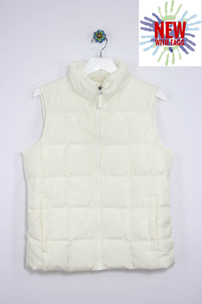 Lands End Size Medium Down Vest