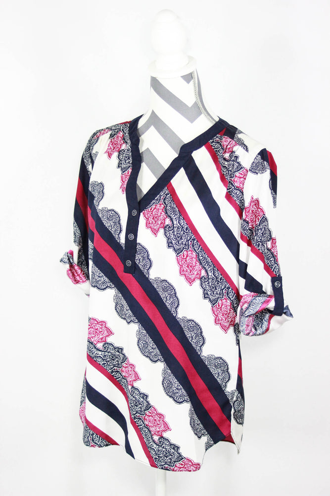 New York & Co. Size Small Print Blouse