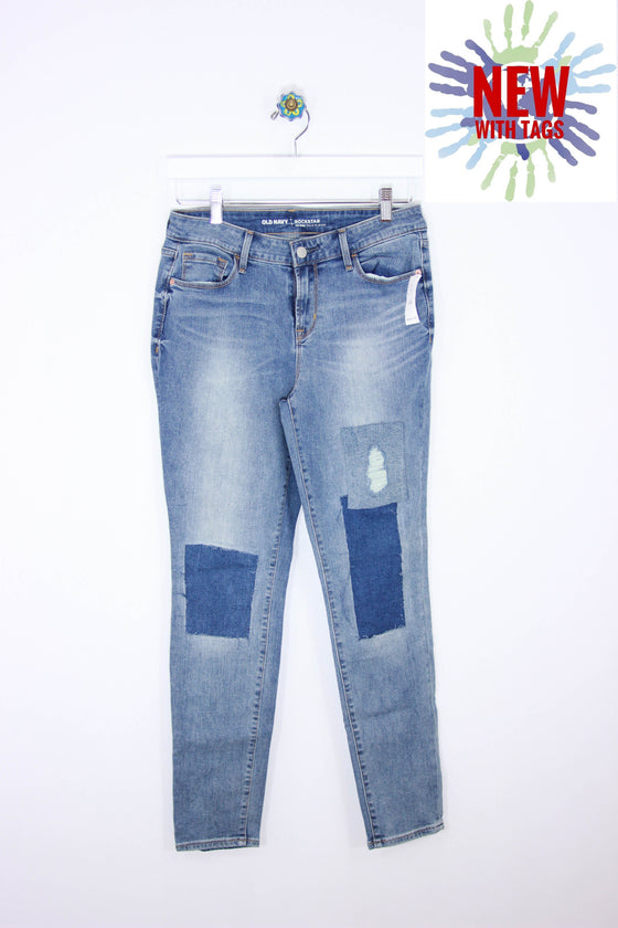 Old Navy Size 6 Rockstar Mid-Rise Denim