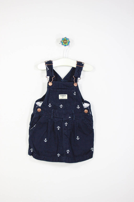 OshKosh Size 2T Anchor Dress Overalls