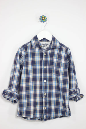 OshKosh Size 5T Long Sleeve Plaid Shirt