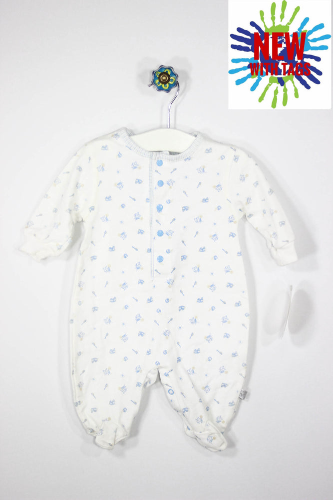 Petit Lem Size 3M Bear Footed Pajamas