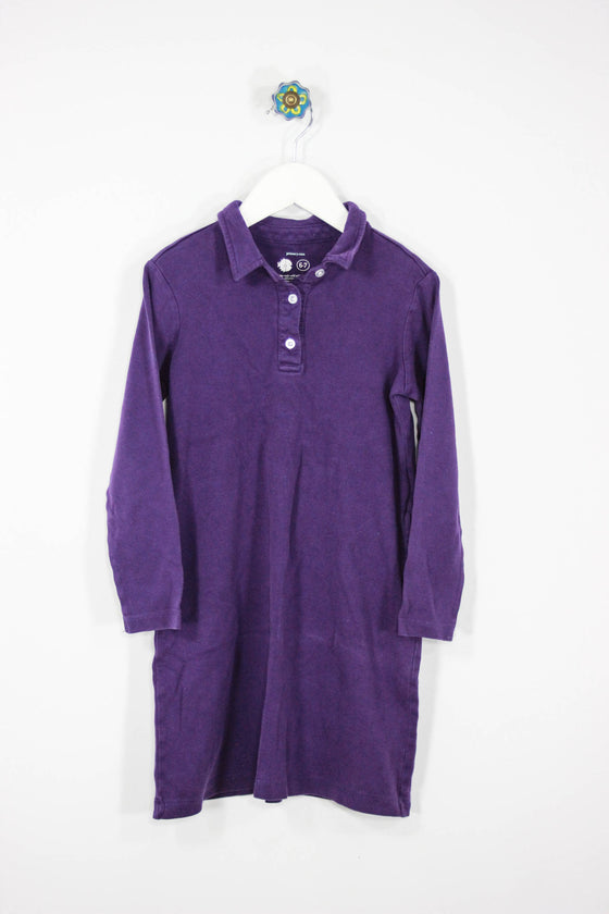 Primary Size 6/7 Purple Polo Dress