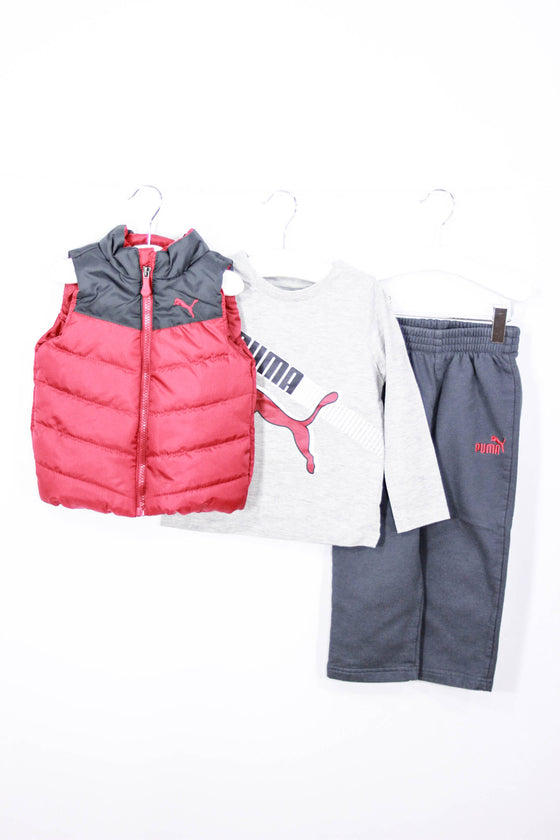 Puma Size 2T Puffy Vest, Tee and Sweatpants