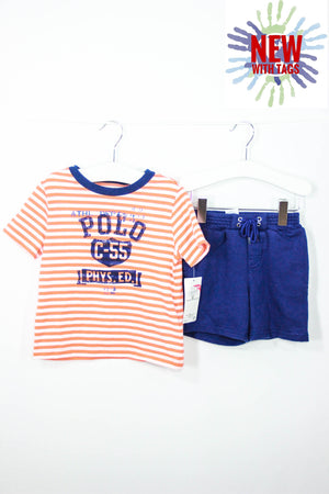 Ralph Lauren Size 18M Short/Shirt Set