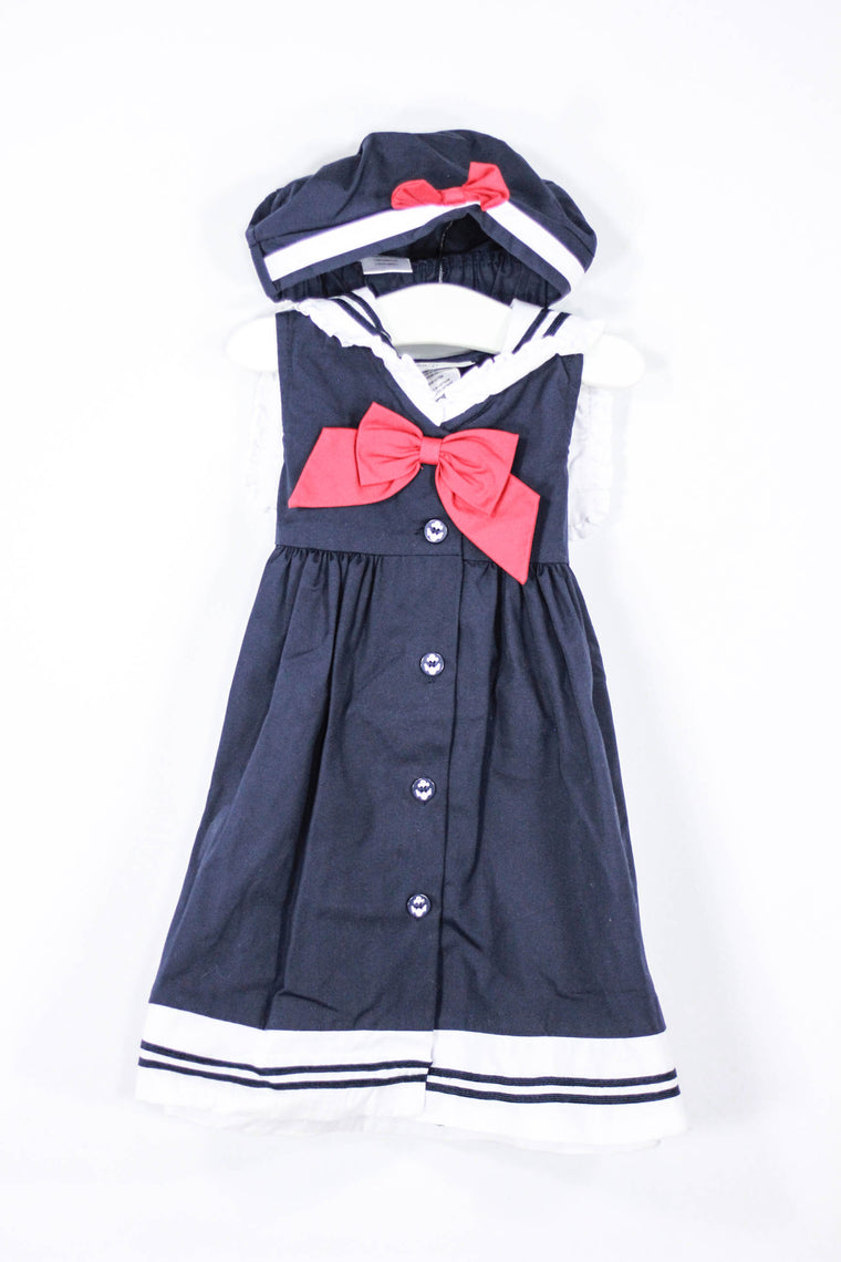 Sophie Rose Size 2T Sailor Party Dress + Hat