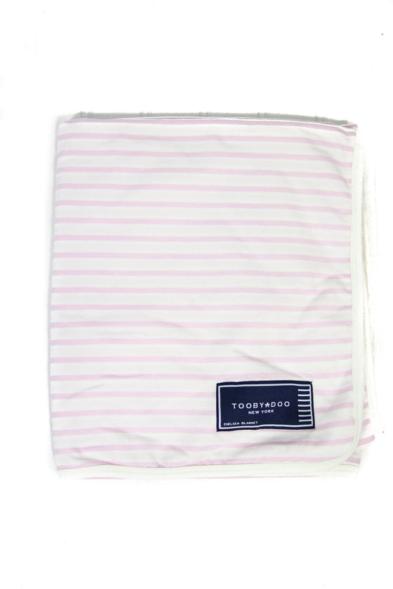 Tooby Doo Pink and Orange Stripe Blanket