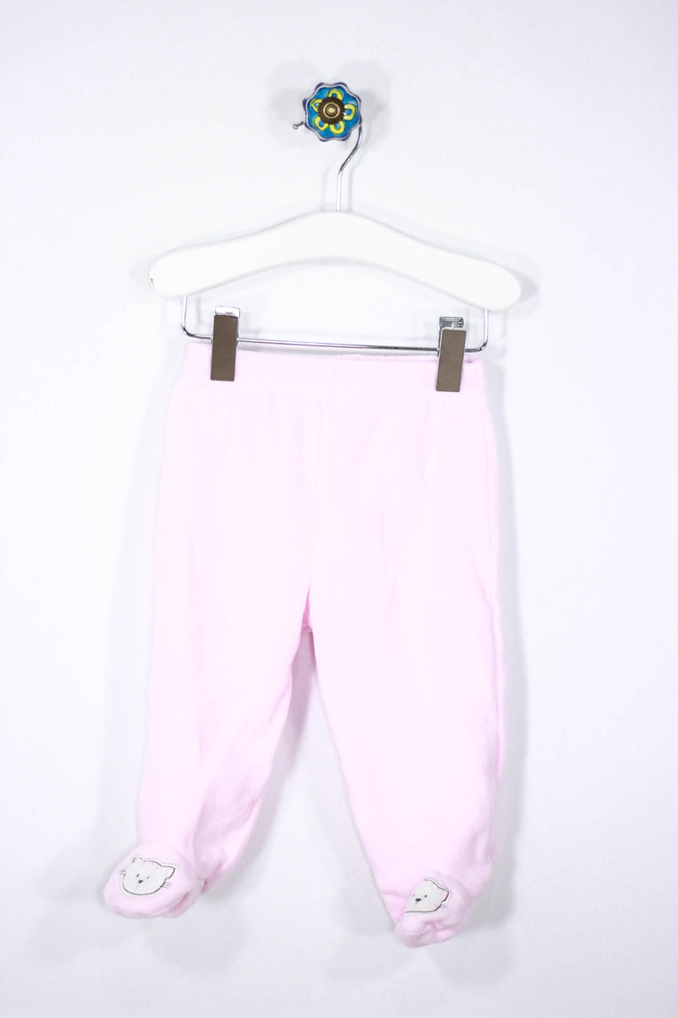 Unknown Brand Size 3-6M Fleece Footed Pants
