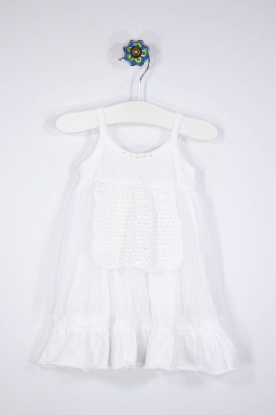 Victoria Kids Size 3-6M Lace and Crochet Party Dress