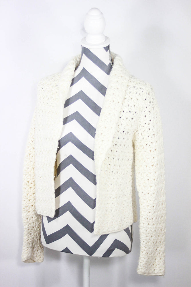 White House BM Size XS Open Front Sweater