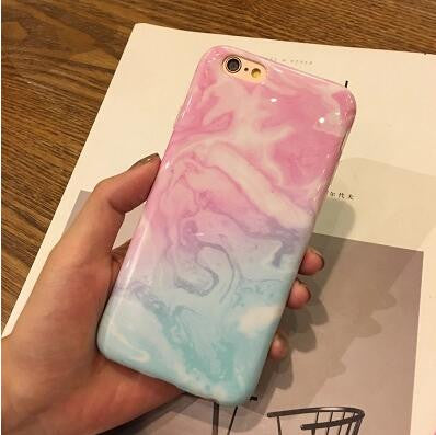 best website 2c346 e0257 Pink blue painted Marble iPhone Case for 7 7+/6 6s+/5 5s