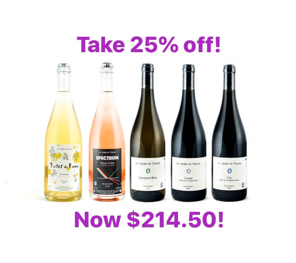Take 25% off - now only $214.50! This beautiful 5 pack from Les Jardins de Theseiis is normally valued at $286.00. We're offering 25% off - just use code JARDINS at checkout and the discount is yours! Only 6 packs available!