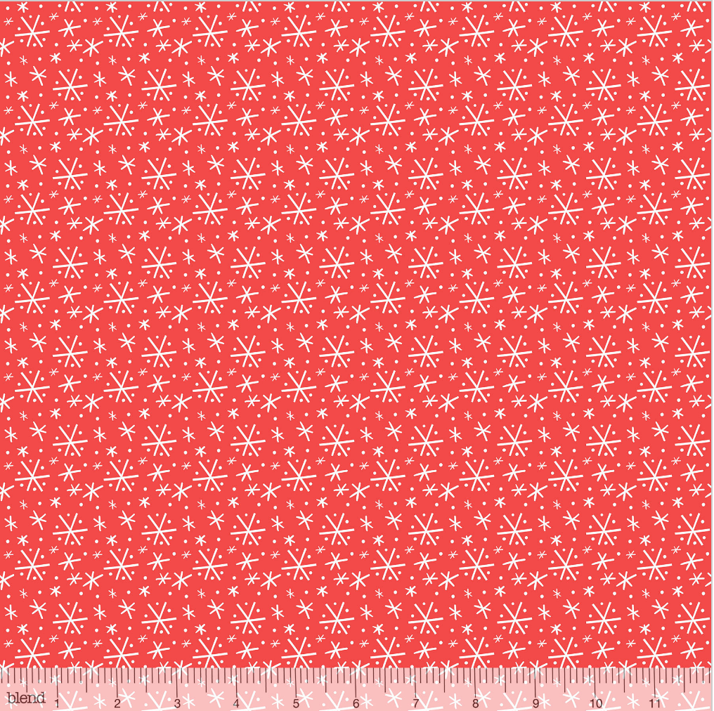 Blizzard Red from the Snowlandia Collection designed by Maude Asbury for Blend Fabrics, Pet, Dogs, Christmas