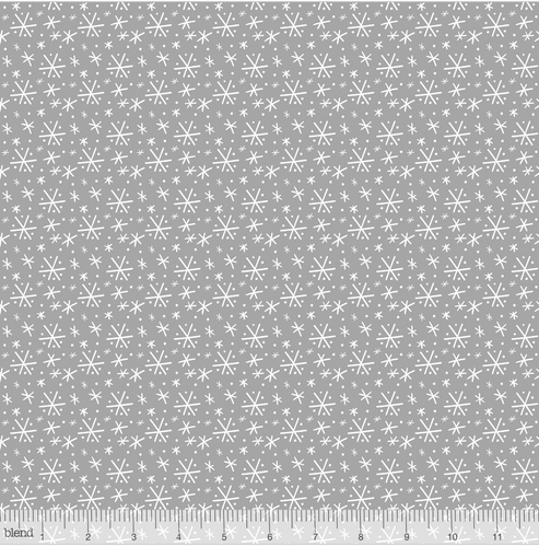 Blizzard Grey from the Snowlandia Collection designed by Maude Asbury for Blend Fabrics, Pet, Dogs, Christmas