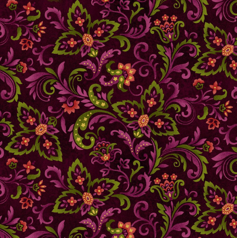 Paisley, Autumn Album, Cranberry, Fall Fabric