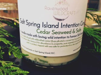 Salt Spring Island Intention Candle - Cedar, Seaweed & Salt