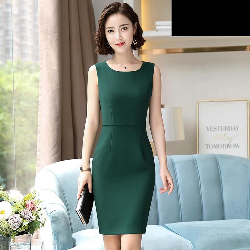 Slim Fit Pencil Dress-Dresses-[korean fashion]-[korean clothing]-[korean style]-SOO・JIN