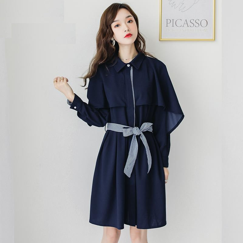 Preppy French Style Dress-Dresses-[korean fashion]-[korean clothing]-[korean style]-SOO・JIN