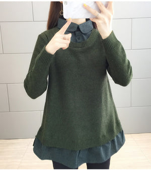 Knit Sweater Type Shirt