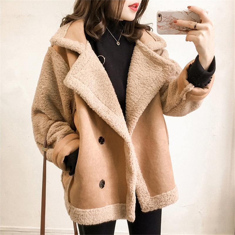 A28A Locomotive Clothing Lamb Fur Coat