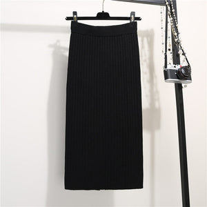 Thick High Waist Long Skirt
