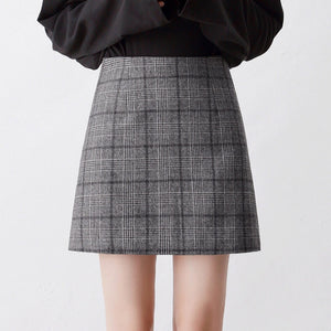 Retro High Waist Lining Skirt