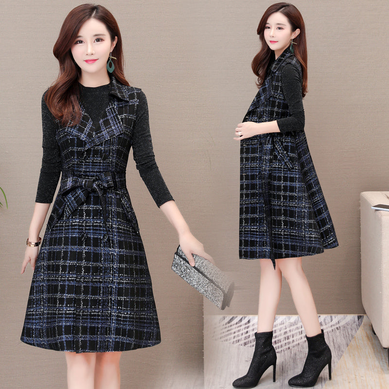 Lapel & Tie Sleeveless Dress-Dresses-[korean fashion]-[korean clothing]-[korean style]-SOO・JIN