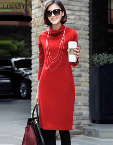 Turtleneck Pencil Dress
