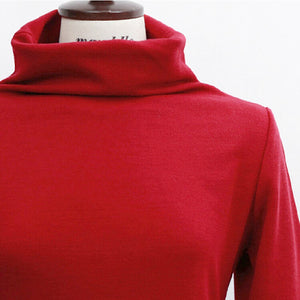 Turtleneck Pencil Dress-Dresses-[korean fashion]-[korean clothing]-[korean style]-SOO・JIN