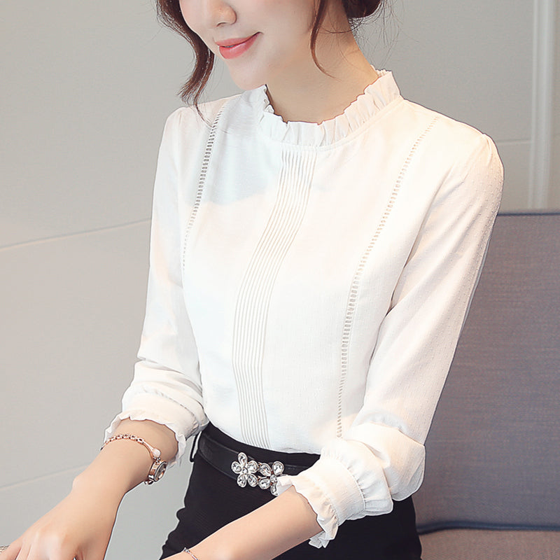 Ring Collar Minimalist Top-Blouses & Shirts-[korean fashion]-[korean clothing]-[korean style]-SOO・JIN
