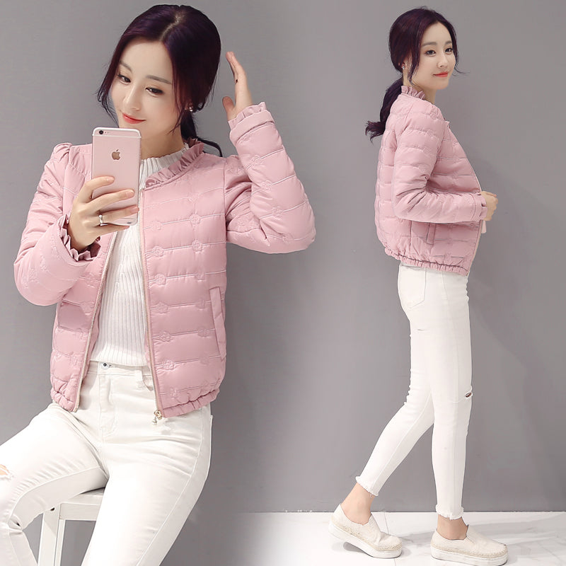 Ruffle Collar Windbreaker-Jackets & Coats-[korean fashion]-[korean clothing]-[korean style]-SOO・JIN