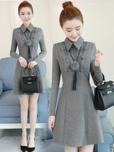 Elegant & Formal Collar Dress-Dresses-[korean fashion]-[korean clothing]-[korean style]-SOO・JIN