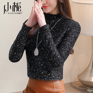 A20K Turtle-Neck Lace Thick Top Winter 2020