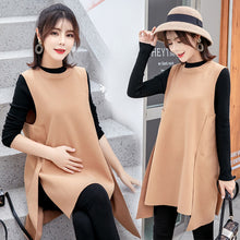 Crew Neck Maternity Dress-Dresses-[korean fashion]-[korean clothing]-[korean style]-SOO・JIN