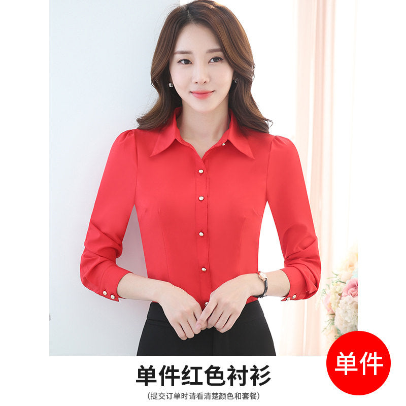 Standard Office Slimming Shirt-Blouses & Shirts-[korean fashion]-[korean clothing]-[korean style]-SOO・JIN