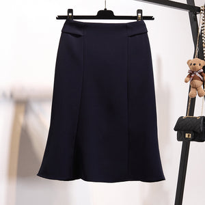 Straight Pleats Skirt-Bottoms-[korean fashion]-[korean clothing]-[korean style]-SOO・JIN