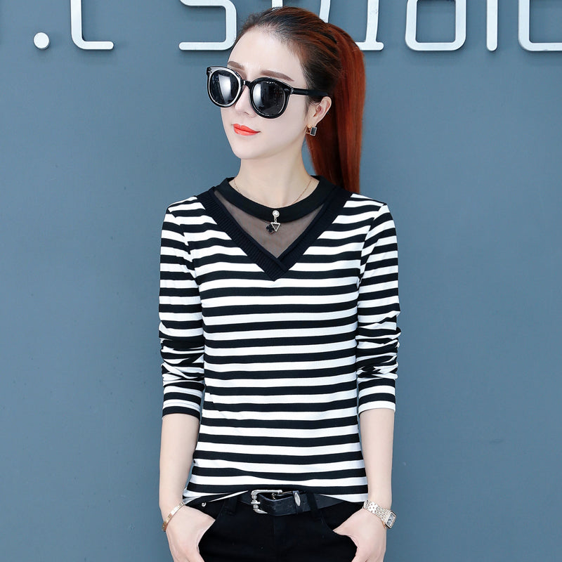 Ring & V Casual Top-Blouses & Shirts-[korean fashion]-[korean clothing]-[korean style]-SOO・JIN