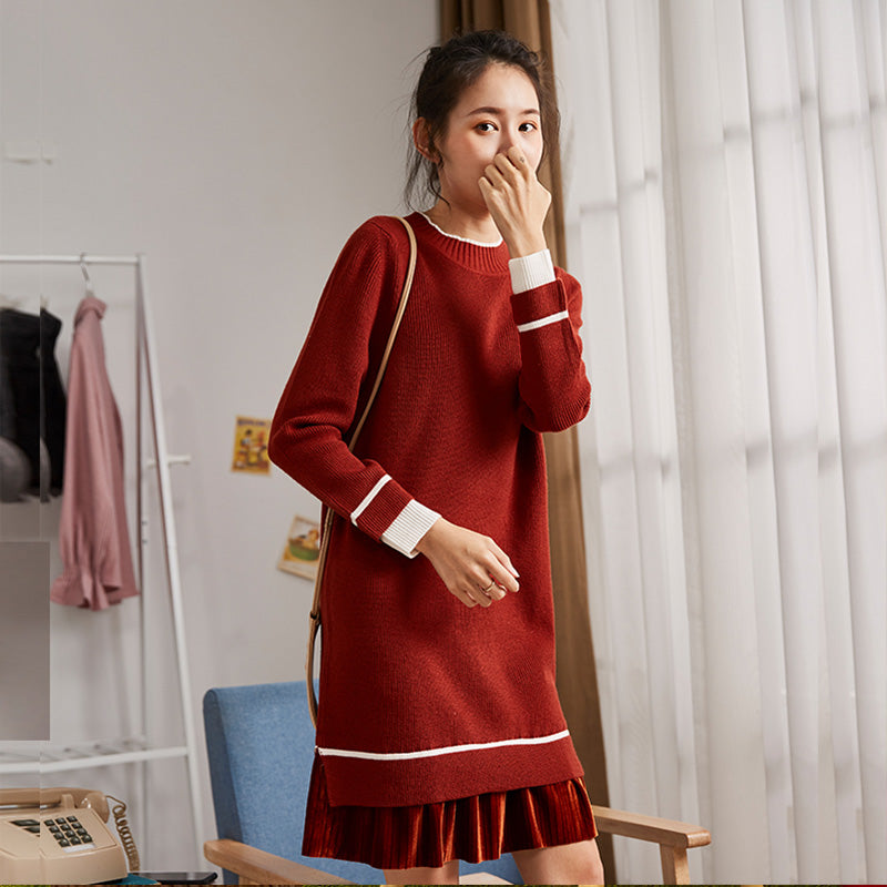 A19J Mouk two-piece Stitching Bottom Dress