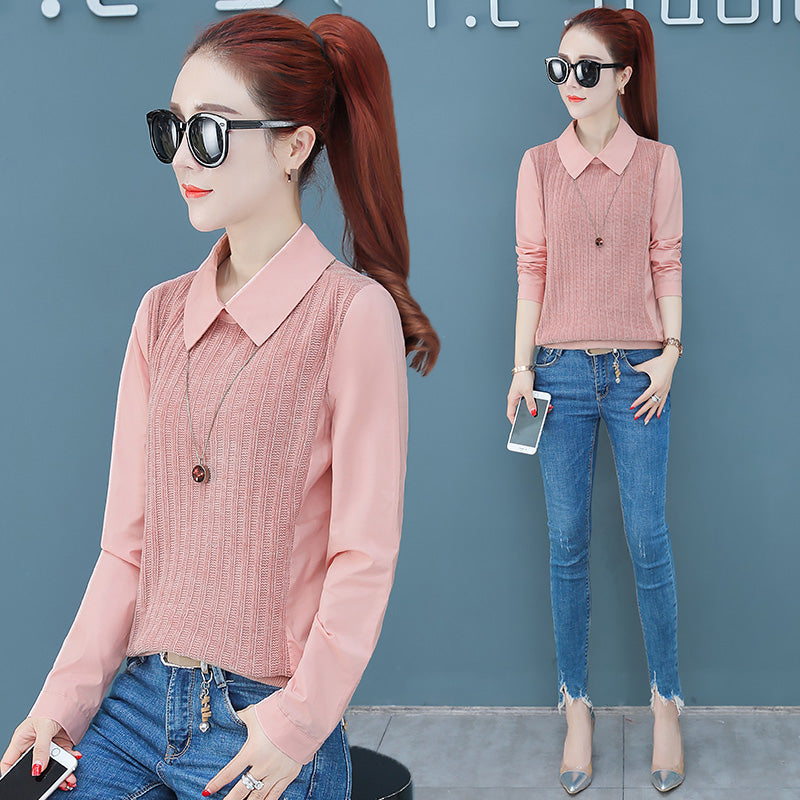 Slim Chic Chiffon Shirt-Blouses & Shirts-[korean fashion]-[korean clothing]-[korean style]-SOO・JIN