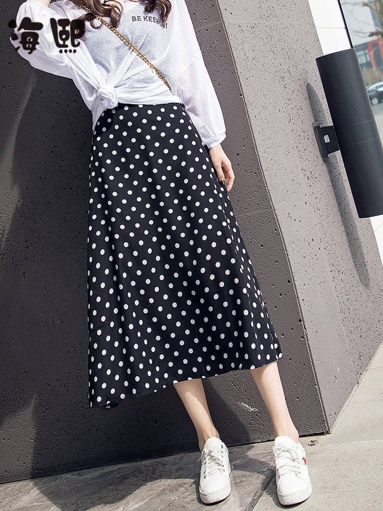 2019 Polka Dot Skirt-Bottoms-[korean fashion]-[korean clothing]-[korean style]-SOO・JIN