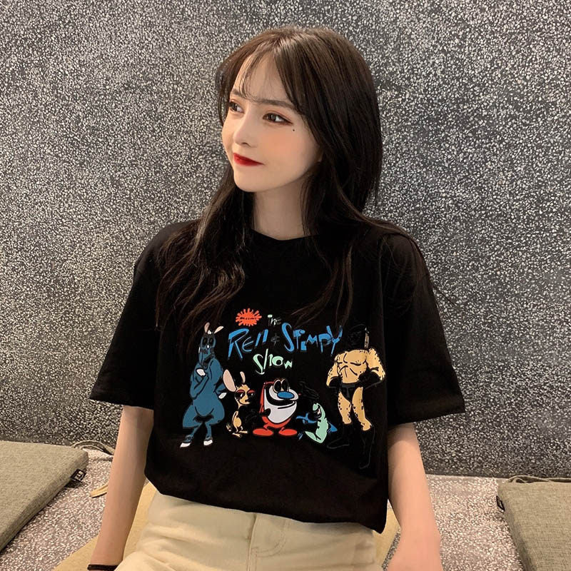 Loose Cartoon Anime Short Sleeve Shirt