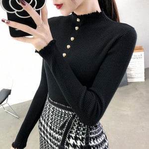 High-Necked knit Pullover