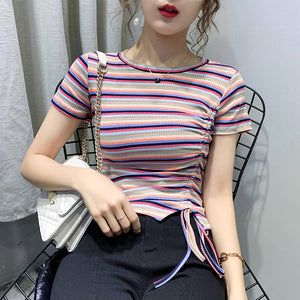 A35H Round Neck Colorful Tops