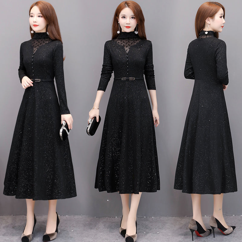 A16S Thick mid-length Fashion Dress