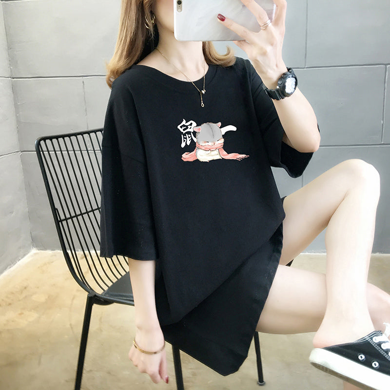 A27O Cartoon Printed Short Sleeve Shirt