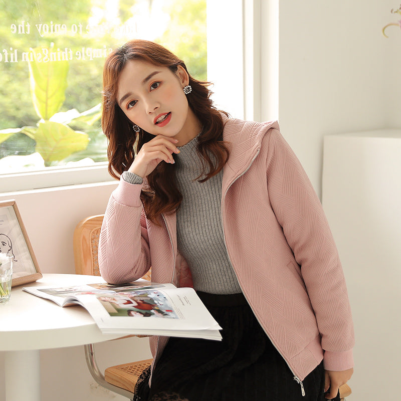 A13Q  Warm Zipper Cardigan Jacket